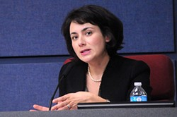 "AISD Board Vice President Gina Hinojosa favors community ""expertise and information"" in hiring process"