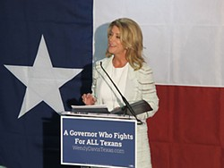 Wendy Davis speaks to supporters Tuesday in Austin.