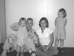 Ron and Crystal Luker with two of their daughters 