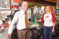 Lambert Labay and daughter, Laura, who now runs the store with her father.