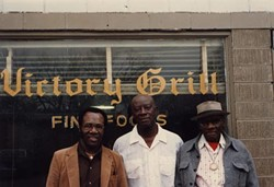 Blues Boy Hubbard (l), Johnny Holmes (c), and Grey Ghost 