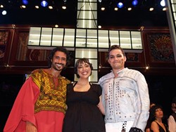 (l-r) Joseph Melendez, Theresa Medina, and John Pointer after the last performance of <i>Superstar</i> at Zach Scott