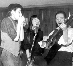 It's Not So Hard to Tell Who Loves Karen Dalton: (l-r) Bob Dylan, Dalton, and Fred Neil at the Cafe Wha? in 1961