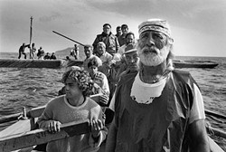 <i>Fishing crews assemble early in the morning, ready to leave for the Mattanza, Sicily, Italy,</i> 1991