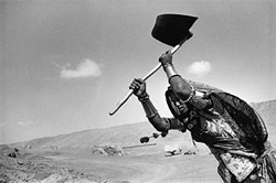 <i>Worker on the canal construction site, Rajasthan, India,</i> 1989