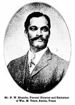 The murder of Nathan Rhambo, a black undertaker who was killed in 1932, soured racial relations in Austin for years.