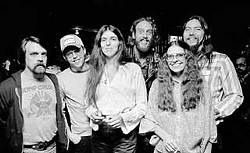 The Team (l-r): Chuck Weiss, Alvin Crow, Marcia Ball, Ray Bensen, Carlyne & George Majewski