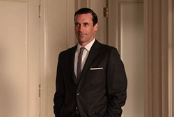 Still mad about the boy: Jon Hamm in <i>Mad Men</i>