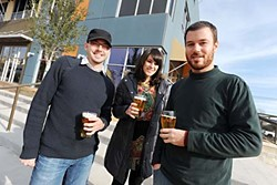 Jeff Young, Karinne Thornblom, and Steven Yarak of Black Star Co-op Pub & Brewery