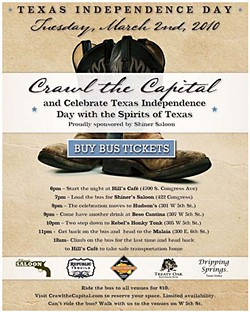 Texas Independence Day: Crawl the Capital on March 2