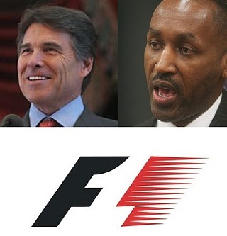 Gov. Perry gets the budget axe out, City Manager Marc Ott keeps his job, and Formula One starts its engines