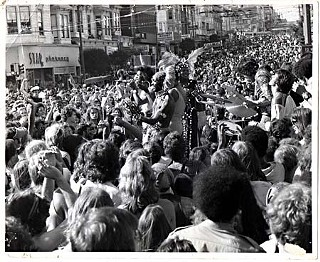 LZ Love performing with disco goddess Sylvester at a San Francisco street fair in the early 1980s