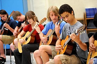 Austin Classical Guitar Society students