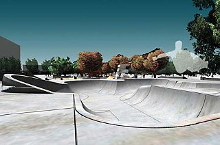 Renderings of the proposed skate and BMX park at House Park