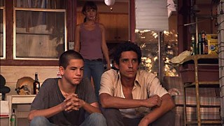 Mike Davis (l), Xochitl Romero, and Gabriel Luna in <i>Dance With the One</i>
