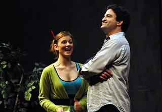 Christina Leidel and Dan Dworin in a scene from <i>The Mikado</i>
