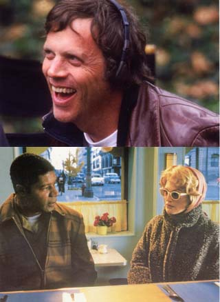 Filmmaker Todd Haynes (top) has generated much Oscar buzz with his latest effort  <i>Far From Heaven </i>(bottom), a re-creation of women's pictures popular in the Fifties.