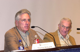 Thomas McGuane and John Graves (l-r) are experts on The Natural World, and they held forth on that topic Saturday.