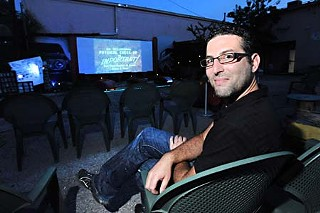 Josh Frank at the Blue Starlite mini drive-in theatre