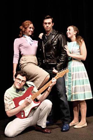 The cast of <i>All Shook Up</i>