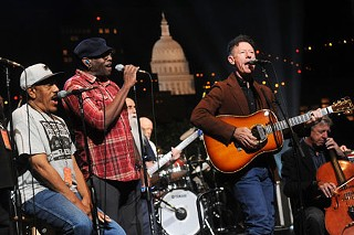 Lyle Lovett & His Large Band at Monday's rehearsal