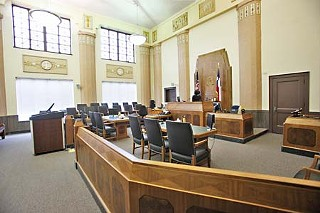 One of Sweatt courthouse's original courtrooms.