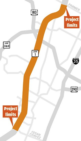 Transportation officials have laid out several options for managing heavy traffic on MoPac between Cesar Chavez and Parmer Lane. A more detailed look at the project can be found at <b><a href=http://www.mopacexpress.com/>www.mopacexpress.com</a></b>, including schematic maps of the proposal for each segment, and a video of what an express lane into Downtown – exiting MoPac onto Cesar Chavez – might look like.