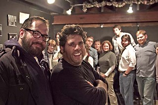 Rich Talarico (l), Dave Buckman, and the school &ndash; um, cast of <i>Loose Fish</i>