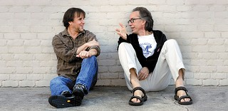 Richard Linklater (l) and John Pierson in early January