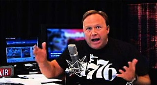 Broadcaster and conspiracy theorist Alex Jones in a May 2010 video titled Racist Film 'Machete' Produced With Taxpayer Funds!