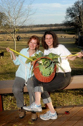 Erin Flynn (l) of Green Gate Farms and Katie Pitre of Tecolote Farm