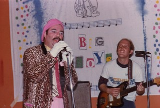 Randy Biscuit Turner and Tim Kerr at the Big Boys' second show ever, and first at Raul's, Nov. 27, 1979