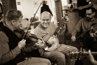 I find the group of people that's playing Irish or old-time and get to have this musical conversation with complete strangers.