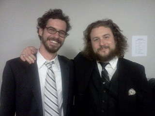 James Petralli (r) and Jim James