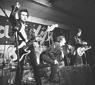 Submission (l-r): Sid Vicious, Johnny Rotten, and Steve Jones at Randy's Rodeo