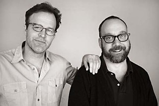 <i>Win Win</i> filmmaker Tom McCarthy (l) and star Paul Giamatti at the South by Southwest Film Festival in March