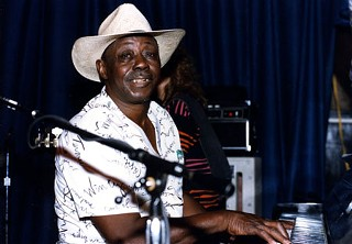 Pinetop Perkins in his Muddy Waters days at the original Antone's on Sixth Street