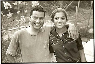 Cary Rodriguez with her father, David, Kerrville, 1995