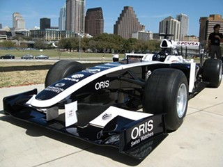 The Williams Cosworth FW33 Formula One race car that visited Austin during SXSW: Expect a lot more of these, and moving a lot faster, across the weekend of June 17, 2012
