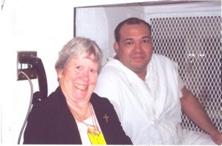 Humberto Leal on death row with Sister Germaine Corbin