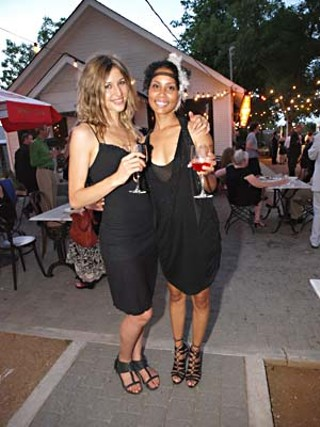 Glamorous beauties like Gabi Tuschak (l) and Chella Cardona (r) populated Une Soiree à la Coco Chanel at Justine's, a benefit for Petite Ecole Internationale.