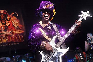 Bootsy Collins gives the Moody the munchies.