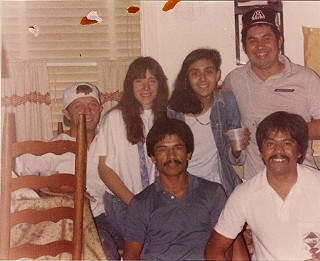 Clockwise from left: Ed Fox, Nancy, Claudia Alarcón, Pepe Estevez, Jorge Chavez, Ramiro