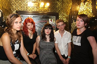 Schmillion: (l-r) Zoe Graham, Natalie Shea, Frankie Blue, Graham Bailey, Cecil Blackwood-Cross