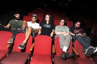 Cinema41 collective members (l-r) Zac Sprauge, Ryan Darbonne, Heather Cain, Greg Clark, and Chris Popkoff