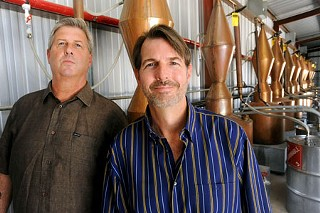 Kevin (l) and Gary Kelleher of Dripping Springs Vodka