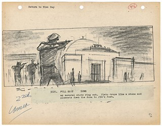 Storyboard from <i>Rebel Without a Cause</i> (1955)
