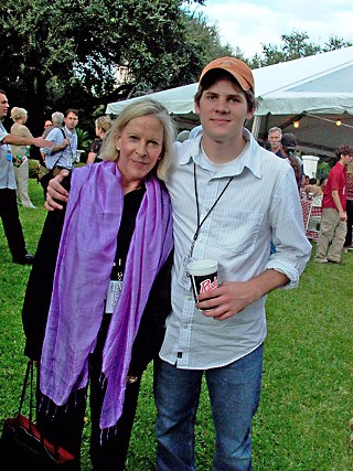 Polly Platt with Ryan Piers Williams at the Austin Film Festival