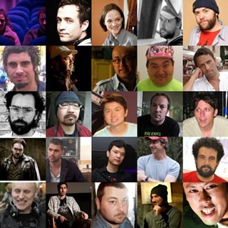 The 26 faces of death: The directorial teams signed up so far for The ABCs of Death. From top, left to right: Bruno Forzani & Héléne Cattet; Kaare Andrews; Angela Bettis; Adrian Garcia Bogliano; Jason Eisener; Ernesto Diaz Espinoza ; Xavier Gens; Jorge Michel Grau; Noburo Iguchi; Thomas Malling; Anders Morgenthaler; Yoshihrio Nishimura; Banjong Pisathanakun; Simon Rumley; Marcel Sarmiento; Jon Schnepp; Srdjan Spasojevic; Timo Tjahjanto; Andrew Traucki; Nacho Vigalondo; Jake West; Ti West; Ben Wheatley; Adam Wingard; Yudai Yamaguchi.