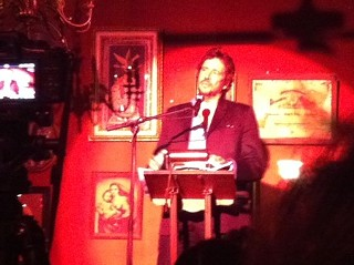 Richard Hell reading at Justine's, 9.27.11